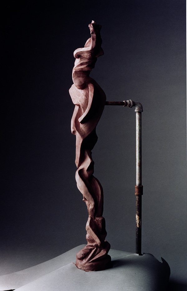 Motivic, a 2001 bronze sculpture by James Peniston. Artist's collection, Philadelphia, Pennsylvania