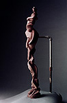Motivic, a 2001 clay sculpture by James Peniston. Artist's collection, Philadelphia, Pennsylvania